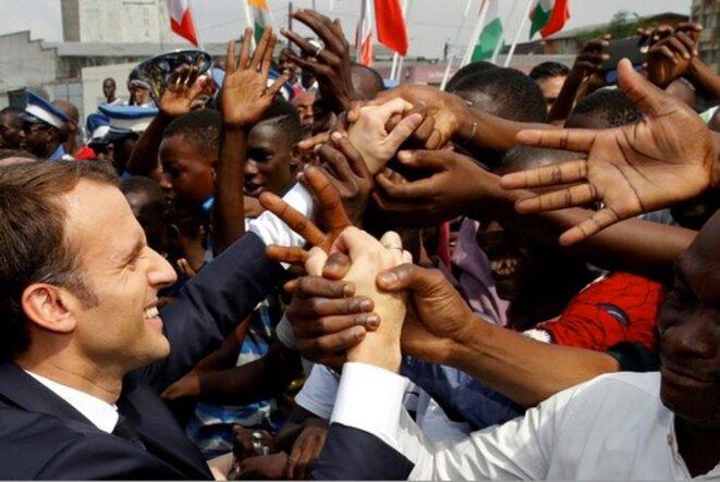 Emmanuel Macron à Abidjan le 30 novembre 2017. © Reuters