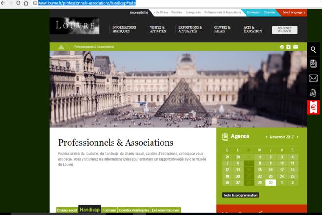 http://www.louvre.fr/professionnels-associations/handicap#tabs © Musée du Louvre