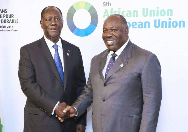 S.E. Ali Bongo Ondimba  et Alassane Dramane Ouattara