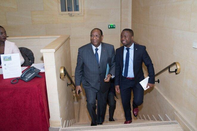 Lansana Kouyaté  et Almamy Kaloko  le Président de Grad Guinée