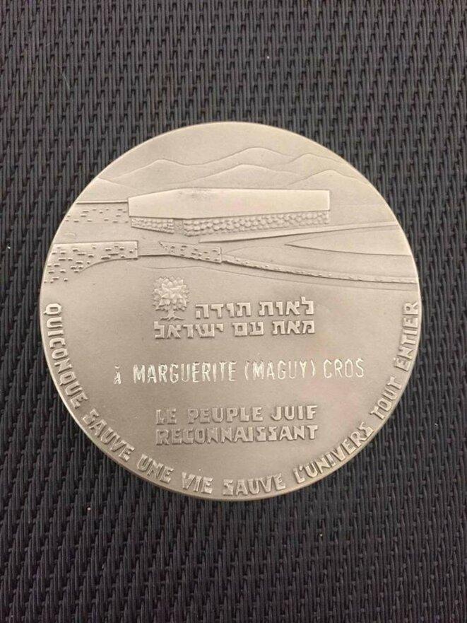 Médaille des Justes © Marie