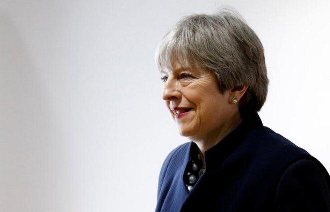 Theresa May, à Bruxelles, le 4 décembre 2017. © Reuters