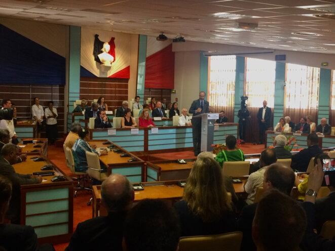 Au Congrès de Nouvelle-Calédonie, le 5 décembre. © ES