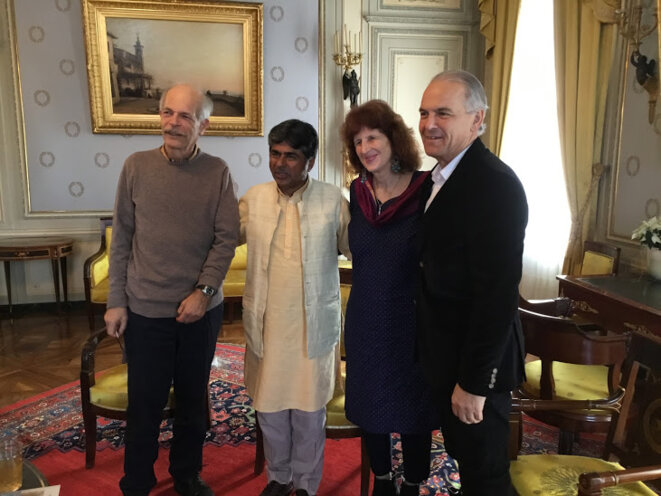 Rémy Pagani (à droite) avec Rajagopal, Jill Carr-Harris et Daniel Wermus © Benjamin Joyeux