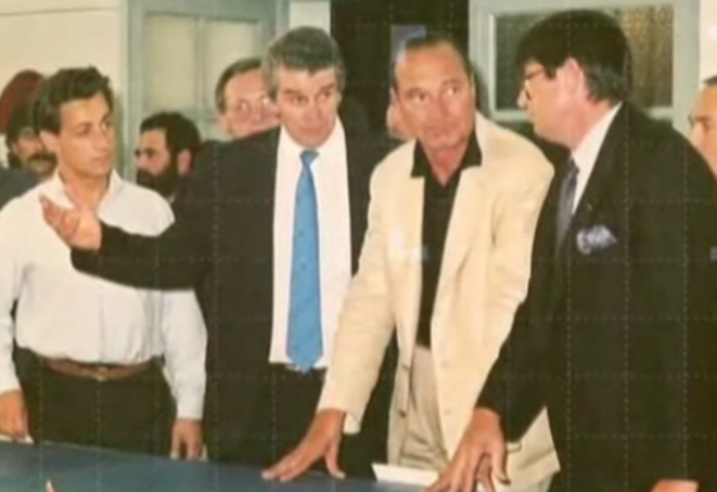 Jean-Claude Méry avec Jacques Chirac et Nicolas Sarkozy