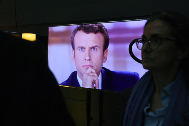 President Emmanuel Macron seems set to reform French public broadcasting. © Eric Feferberg / Reuters