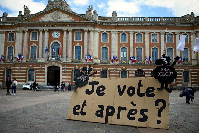 Second tour de l'élection présidentielle 2017, Toulouse. © Alain Pitton