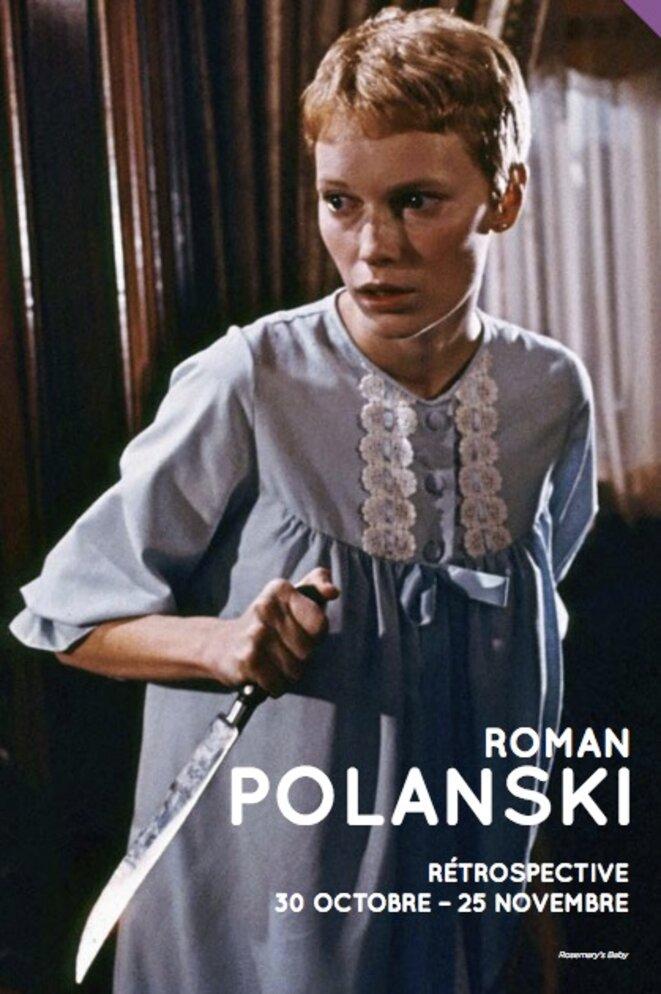 Couverture du programme de la rétrospective consacrée à Roman Polanski à la Cinémathèque © Cinémathèque