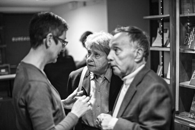la nouvelle directrice et le couple fondateur de Théâtre Ouvert © jean-Louis Fernandez