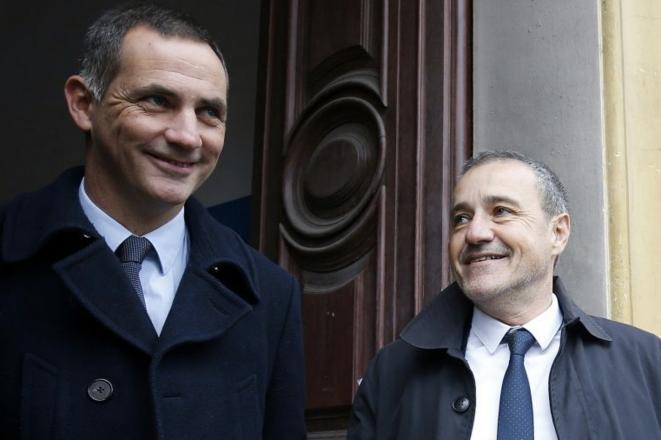 Gilles Simeoni et Jean-Guy Talamoni, le 3 décembre, à Bastia © Reuters