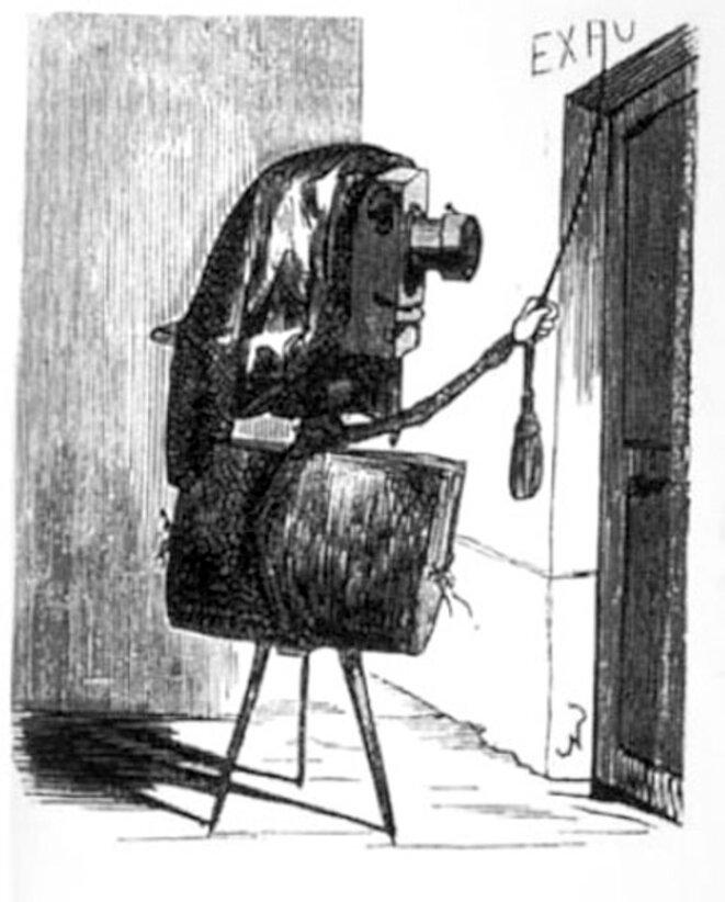 dessin de Nadar- la photographie demandant son entrée aux Beaux-Arts... © Félix Tournachon dit Nadar -1855