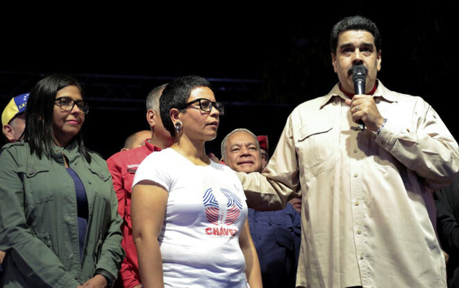 Nicolás Maduro, dimanche soir, à Caracas. © Reuters