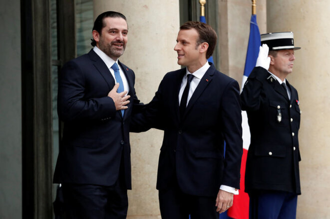 A friend in need: Saad Hariri with French President Emmanuel Macron at the Elsée Palace on November 18th. © Reuters