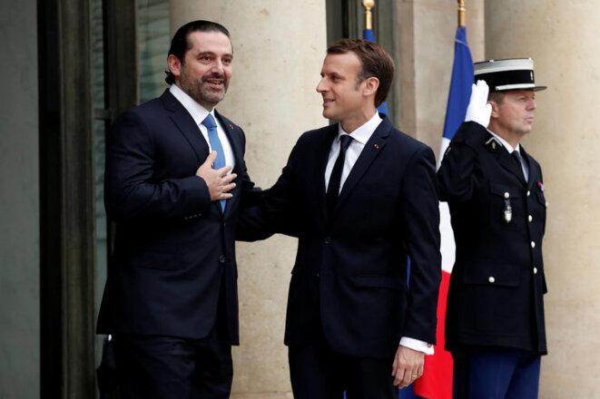 Saad Hariri reçu par Emmanuel Macron à l'Élysée, le 18 novembre. © Reuters