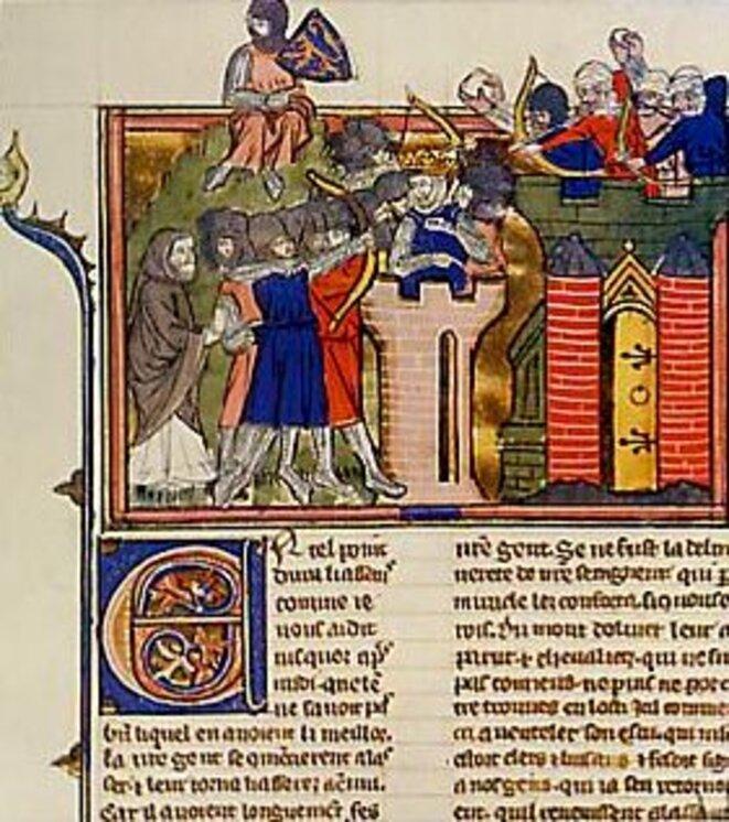 Siège de Jérusalem par les Croisés - enluminure du XIVe siècle