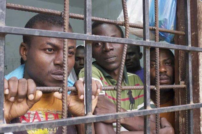 Des migrants ouest africains sont souvent emprisonnés en Libye où ils sont vendus comme esclaves des tribus © maliweb