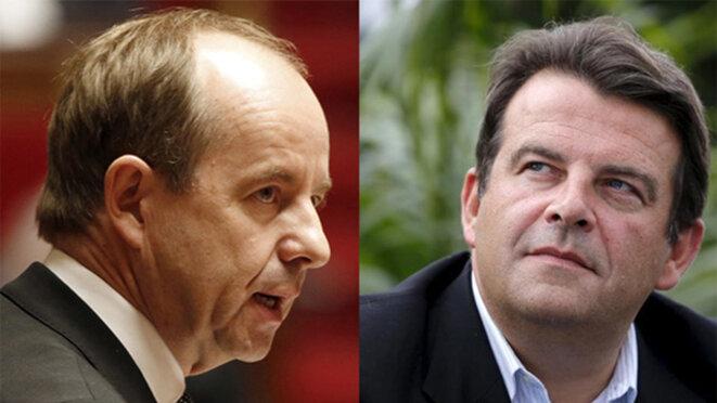 L'ex-ministre de la justice Urvoas et le député Solère. © Reuters