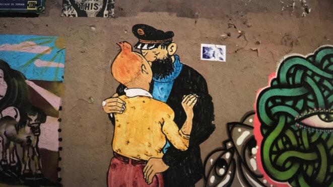 Street Art vandale – Quartier de la Butte aux Cailles, Paris 13e © Philippe Petit