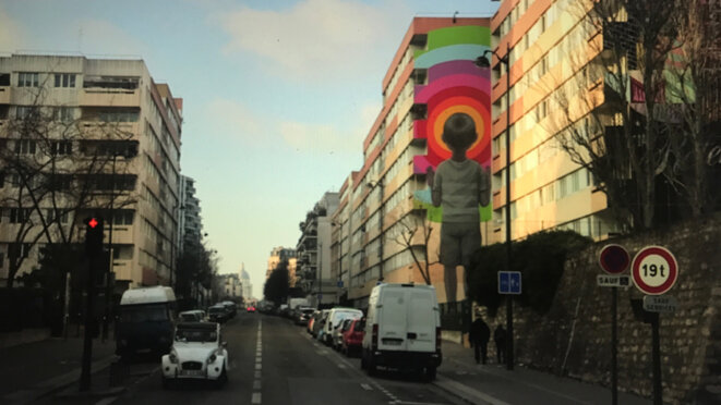 Street Art institutionnel (artiste : SETH) – Métro Ligne 6, Paris 13e © Philippe Petit