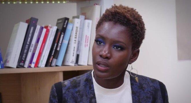 Rokhaya Diallo en 2015, dans le studio de Mediapart