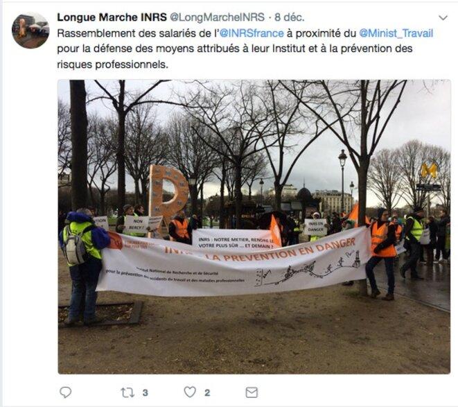 Mobilisation des salariés CFDT pour l'INRS