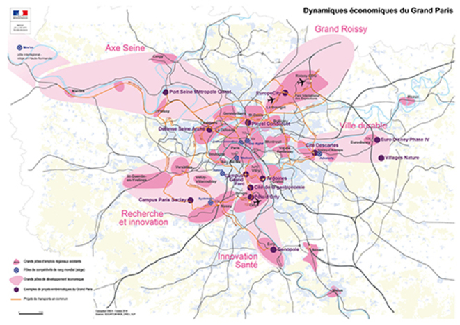 Dynamique économiques du Grand Paris ; une logique de patates © DRIEA octobre 2014