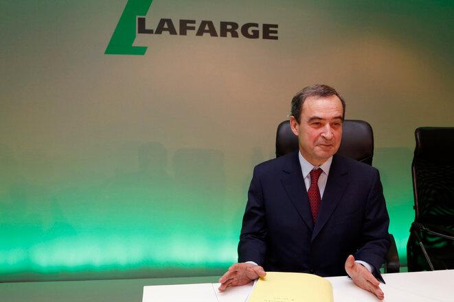 Bruno Lafont, exdirector general de Lafarge, investigado por « financiación del terrorismo », el 18 de febrero de 2015. © John Schults/Reuters