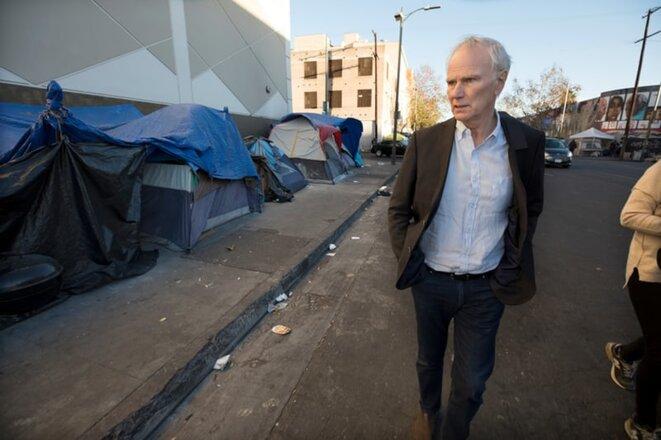 Philip Alston in downtown LA. © Dan Tuffs for the Guardian