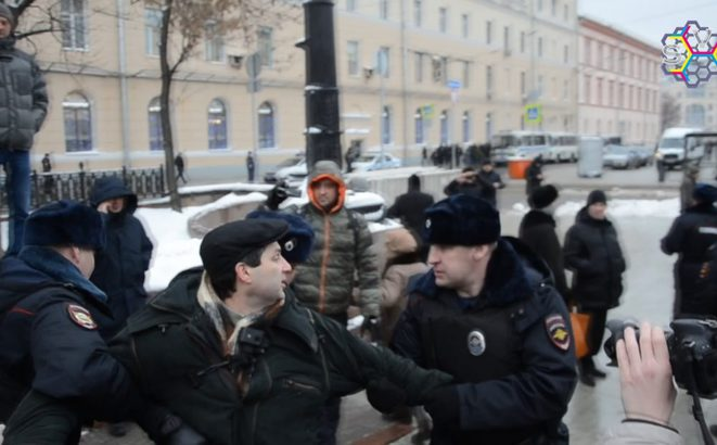 Arrestation de Marc Galpérin © Sota.vision