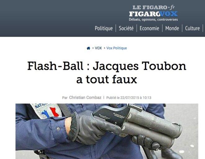 Colère du « Figaro » contre Jacques Toubon en juillet 2015...