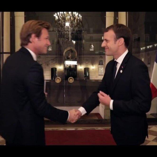 Delahousse et Macron