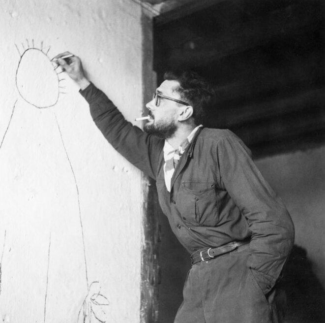 """Fernand Deligny à l'époque de """"La Grande Cordée"""", 1959. © Archives Josée Manenti"""