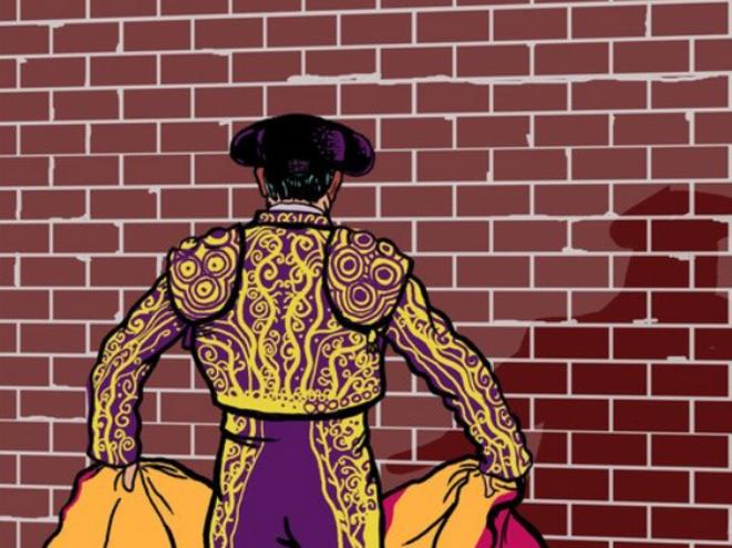 Ilustración: torero frente al muro. © infoLibre