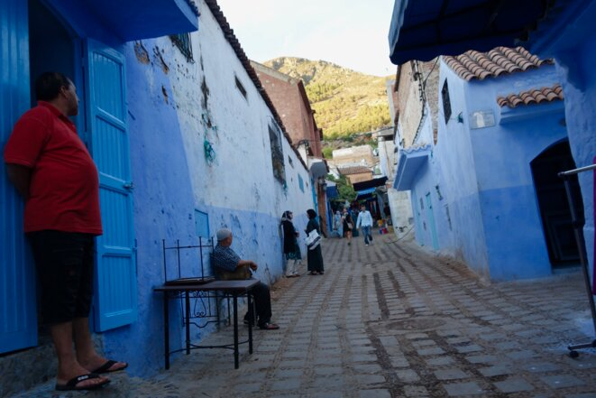 The town of Chefchaouen in north-west Morocco in 2016. © Rachida El Azzouzi