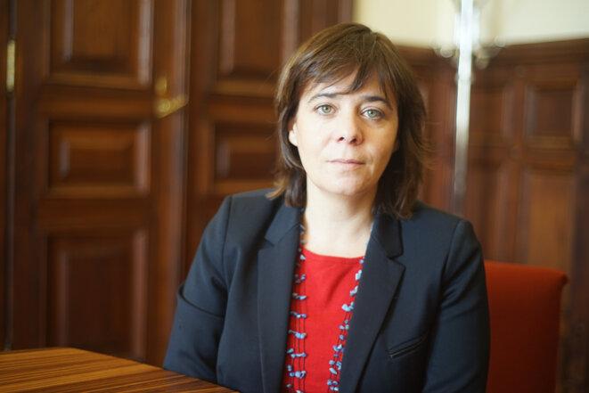 Catarina Martins, coordinatrice du Bloco de Esquerda. © Amélie Poinssot
