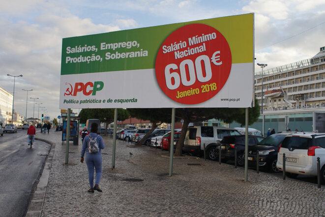 Le PC portugais demande une revalorisation du SMIC à 600 euros dès 2018. © AP