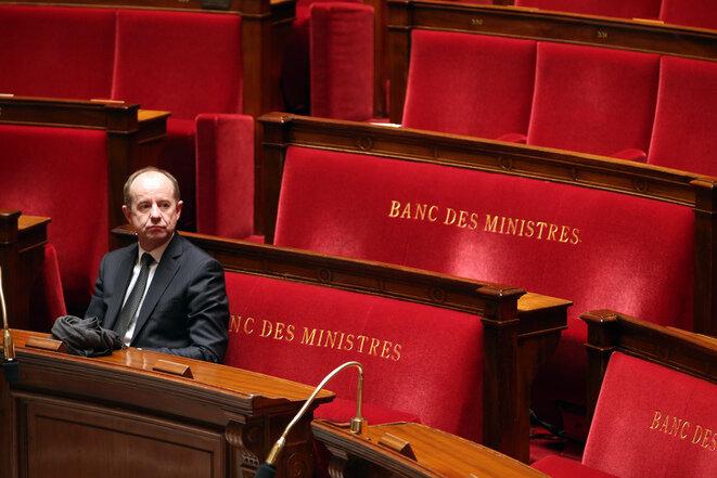 Jean-Jacques Urvoas, cuando era ministro de Justicia, el 8 de marzo de 2016, en la Asamblea Nacional. © Reuters