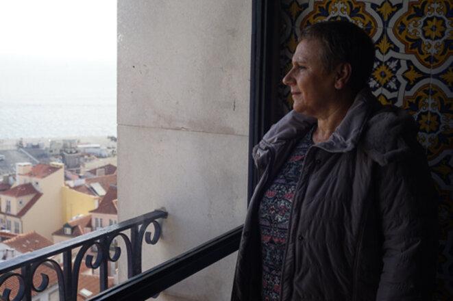 Maria de Lurdes Pinheiro, sur les hauteurs d'Alfama © Amélie Poinssot