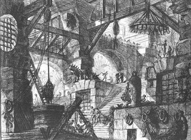 G. Piranèse, « Carcere (Prison) XIII », gravure, 1761