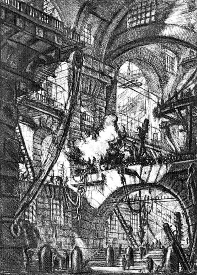 G. Piranèse, « Carcere (Prison) VI », gravure, 1761