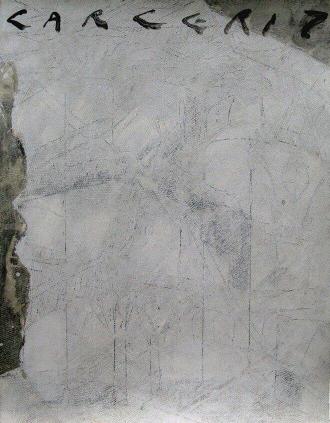 J-P. Rodrigo, « Carcere VII,1 », peinture, 24/06/12 © J-P. Rodrigo
