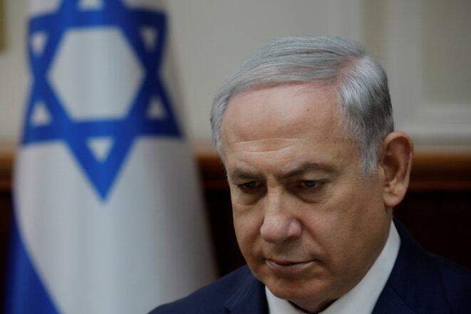Benjamin Netanyahou (ici le 24 décembre 2017) pourrait être inculpé pour avoir reçu des cadeaux illicites. © Reuters