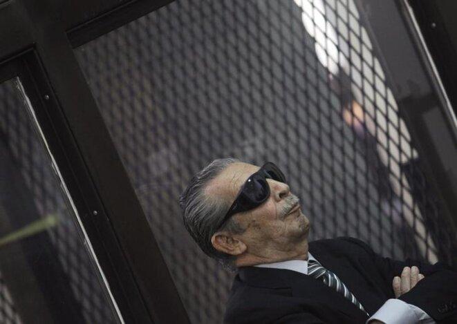L'ancien dictateur Rios Montt devant la Cour suprême du Guatemala, en novembre 2013. © REUTERS/Jorge Dan Lopez