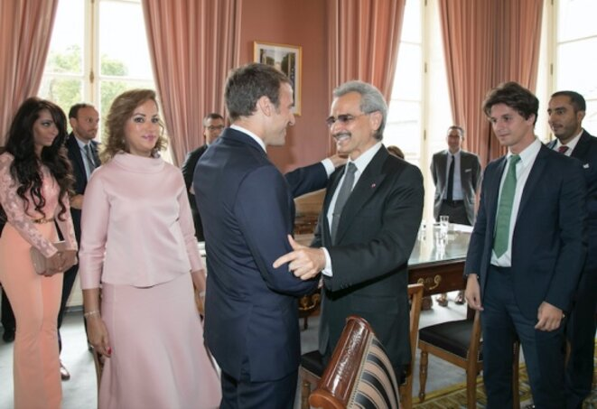 Prince Al-Waleed's visit to the Élysée in early September 2017. © DR