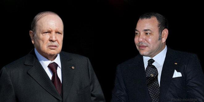 Mohammed VI et Abdelaziz Bouteflika (photomontage) © huffpostmaghreb.com