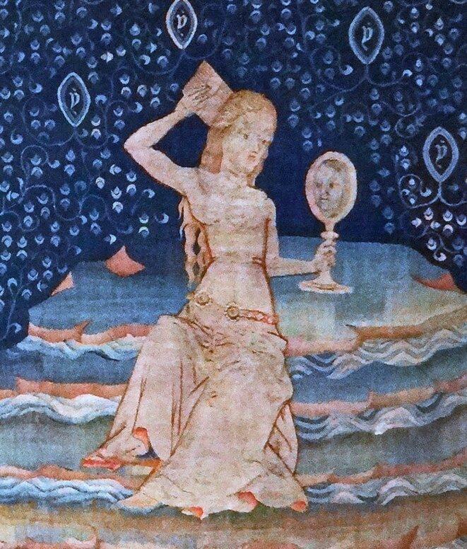 Tapisserie de l'Apocalypse («La Grande Prostituée sur les eaux »), château d'Angers...
