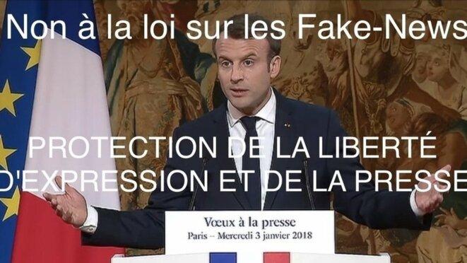 Le Président Macron expose son projet d'une loi contre les fake-news © Thierry Paul Valette