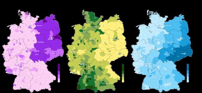 Allemagne, élections 2017, intégration démocratique de l'est.
