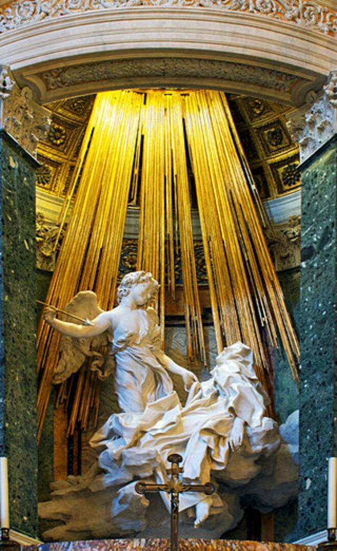 1.L'extase de Sainte Thérèse d'Avila, de Bernini, dans la Chapelle Cornaro, église de Santa Maria della Vittoria, Roma, 1647-52