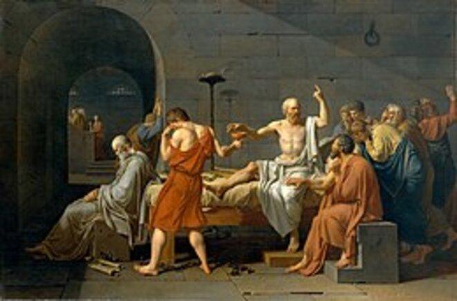 La mort de Socrate, Jacques Louis David, 1787, The Metroplitan Museum of Art, New York, USA